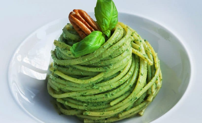 Спагетти с соусом Песто из базилика