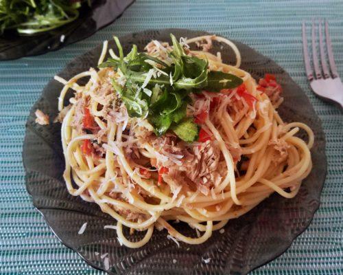 Паста с тунцом Spaghetti al Tonno