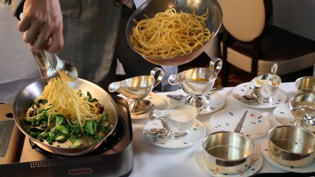 Спагетти Примавера - добавляем пасту