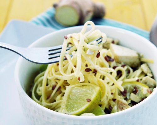 Спагетти с имбирем и лимоном (Spaghetti con Lime e Zenzero)